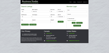 business trader listing